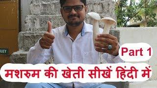 Mushroom Farming (PART 1) मशरुम  की खेती हिंदी में सीखें V-log