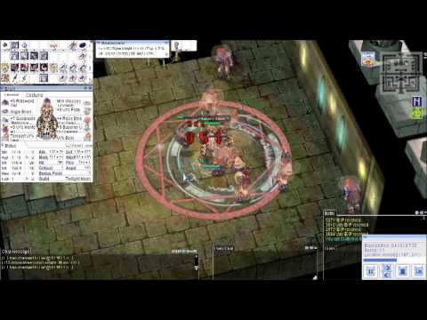 Ragnarok Online - Rune Knight vs Nameless Mob (Rideword Hat + 4x Hunter Fly Card Healing Combo) HD