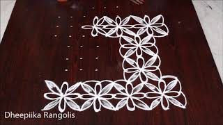 simple and easy ratham muggulu for sankranthi * kanuma special kolam * pongal ratham muggu