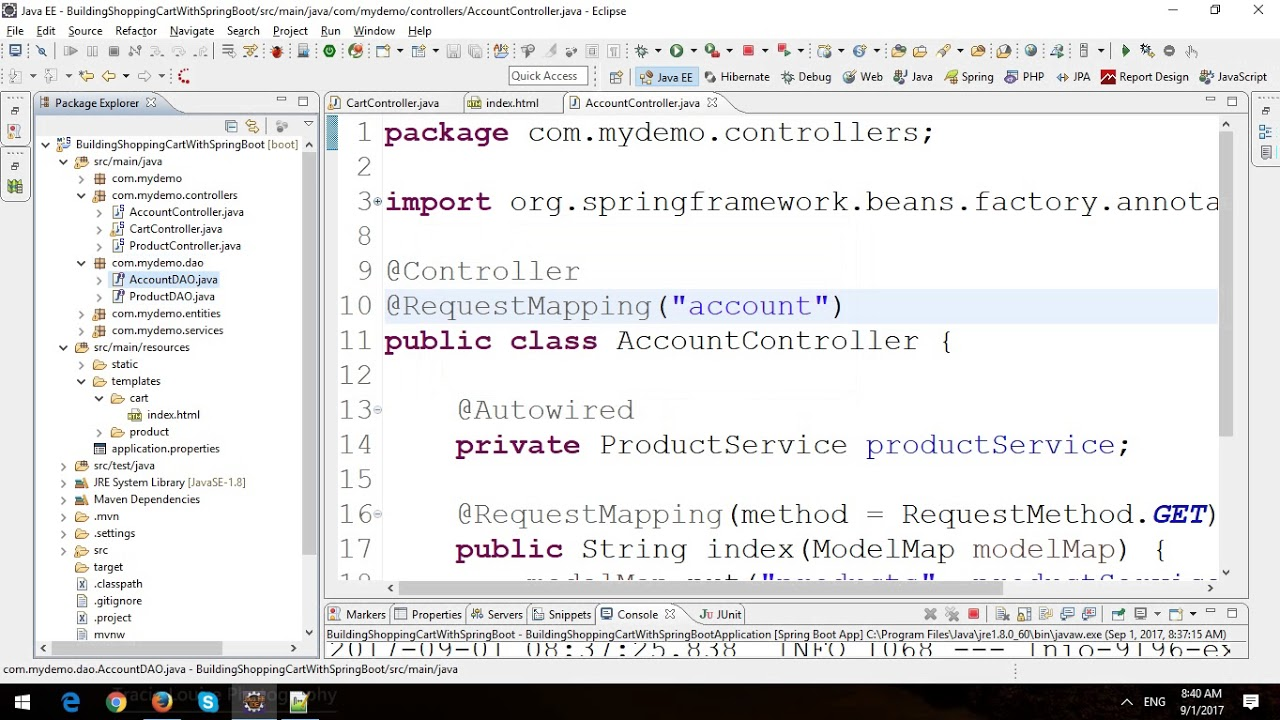 Building Shopping Cart in Spring Boot and JPA - Part 3