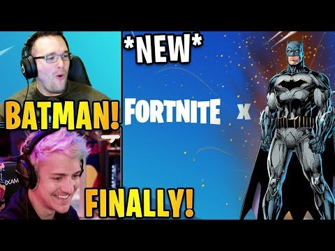 """Streamers React to the *NEW* """"FORTNITE X BATMAN"""" EVENT LIVE! 