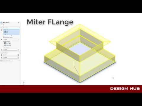 Sheet Metal Design Miter Flange Designpart 3 Solidworks
