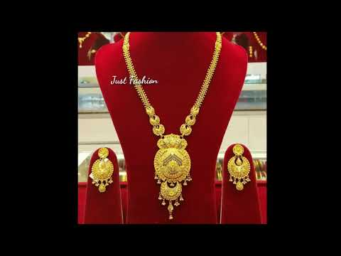 latest-designer-gold-long-necklace-set-ranihaar-designs-with-weight-under-4-to-6-tola