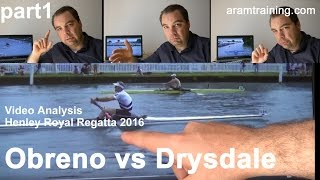 Video analysis   Henley Royal Regatta 2016   Final M1x Drysdale vs Obreno   part1