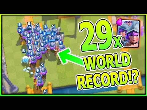 29 MUSKETEERS!! NEW WORLD RECORD!?   Clash Royale Mass Troop Gameplay!! WORLD RECORD TIPS + GUIDE!