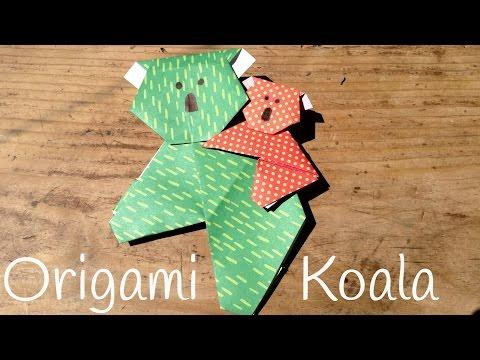 Koala de Origami fácil de hacer con papel