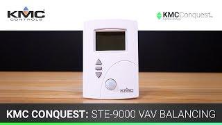 KMC Conquest: STE-9000 VAV Balancing