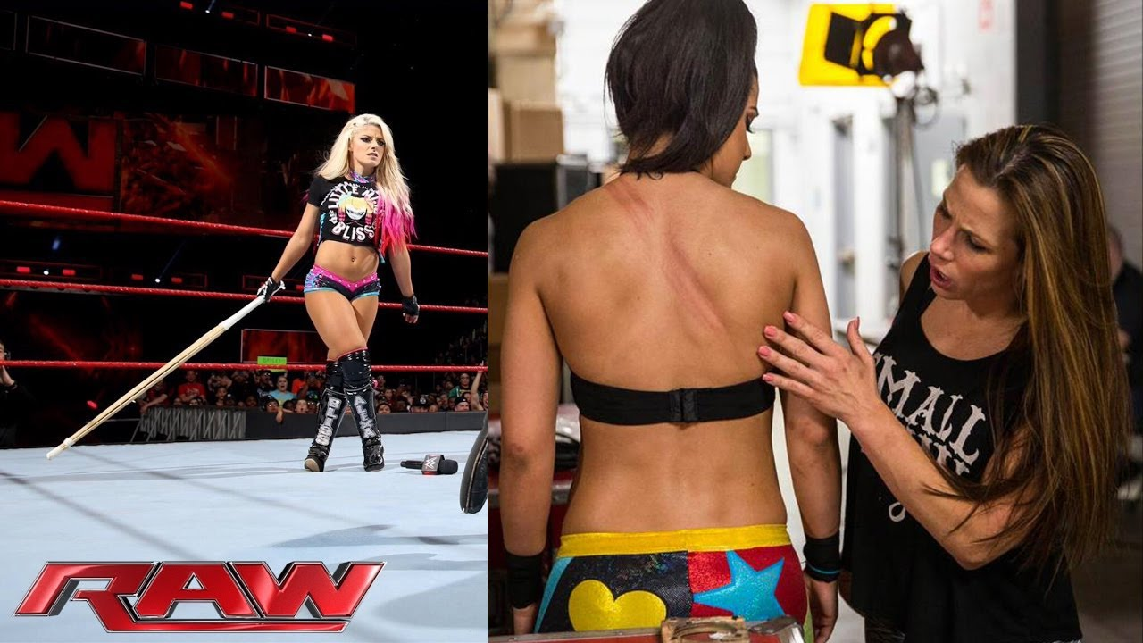 11c065cda See the effects of Alexa Bliss  Kendo stick attack on Bayley - YouTube