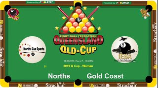 2019 Q-Cup Womens 8 Ball Teams - Norths v Gold Coast