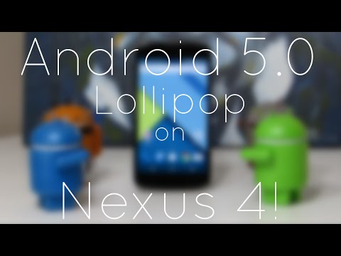 Android 5.0 Lollipop on Nexus 4 (Overview)!
