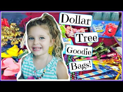 DOLLAR TREE goodie bags for Journey's birthday party!