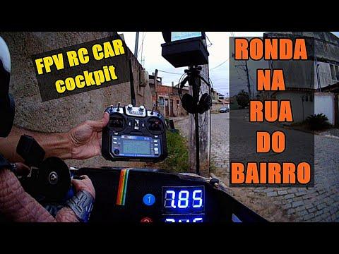 Фото De ponta a ponta da rua FPV Rc Car visão do cockpit