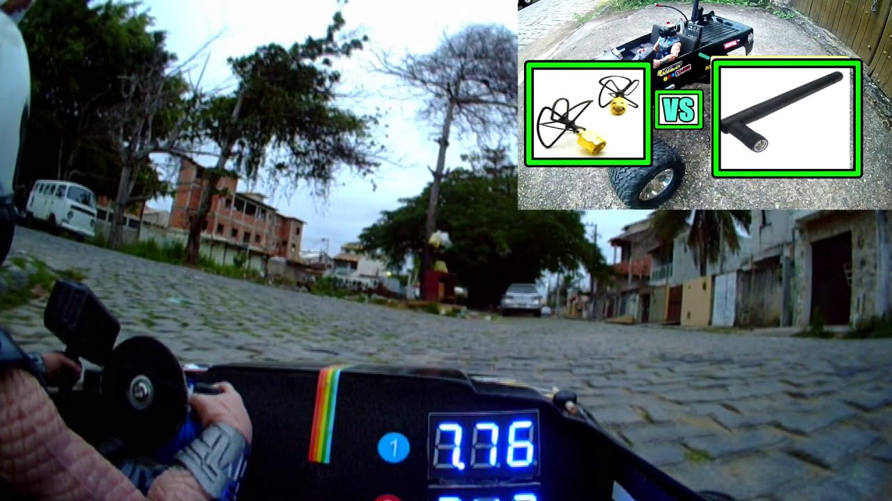 De ponta a ponta da rua FPV Rc Car visão do cockpit картинки