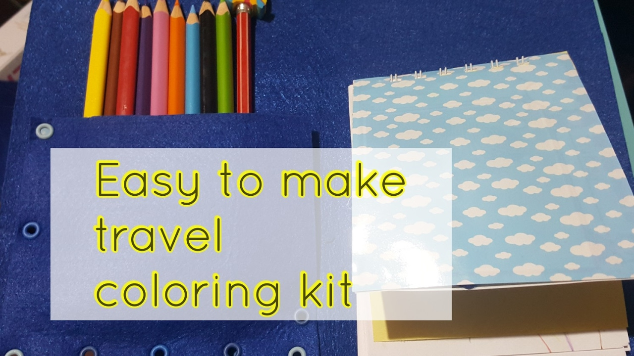 How to make a simple travel coloring kit - YouTube