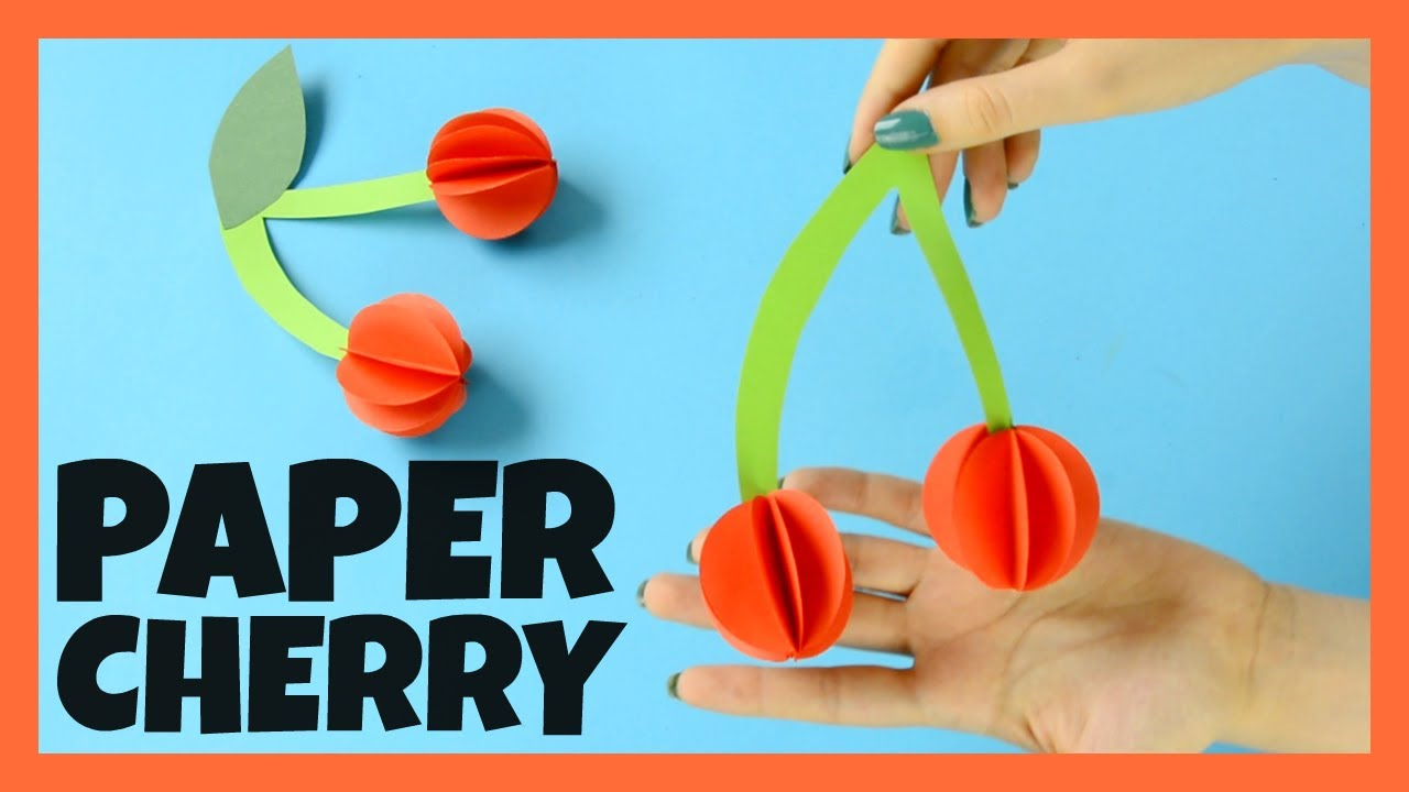 Paper Cherry Craft for Kids - fun paper craft idea for kids - YouTube