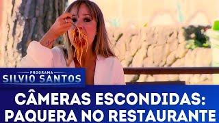 Paquera no Restaurante - Spaghetti Seduction Prank   Câmeras Escondidas (05/08/18)