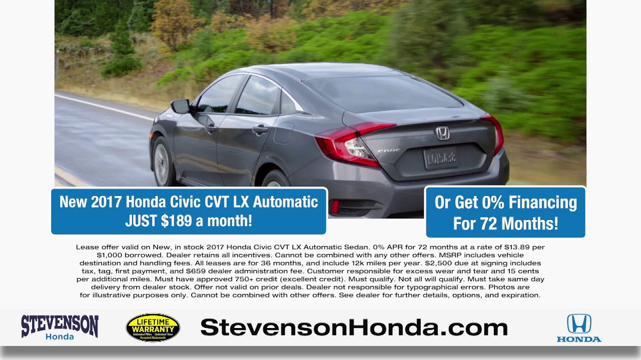 Stevenson Honda Of Wilmington   Test Drive The Honda Civic Today!