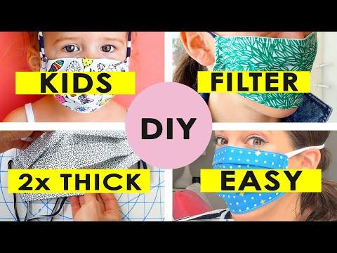 DIY Face Mask and Filter for your Whole Family from YouTube · Duration:  12 minutes 2 seconds