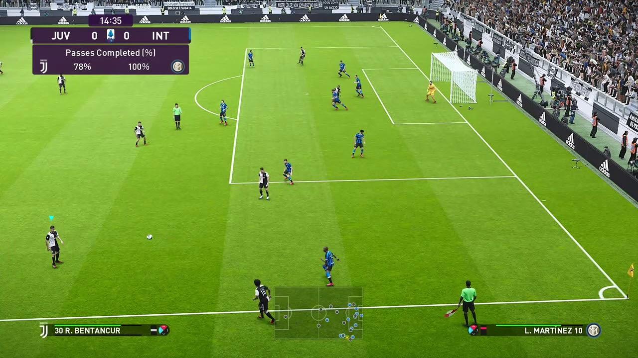 PES 2020 Juventus vs Inter Milan P2 - YouTube
