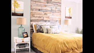 DIY Wooden Headboard Bedroom