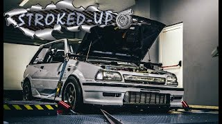 Toyota Starlet EP71 7AGTE Dyno Day 2019 / Stroked-up