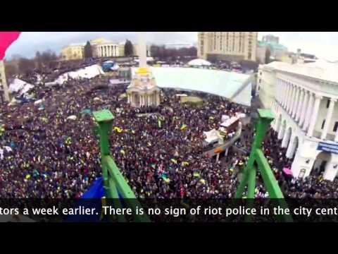 Euromaidan: Ukraine Protesters Fill Kiev Square