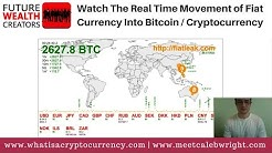 Real Time Movement Of Fiat Currency Into Bitcoin / Cryptocurrency [WATCH]