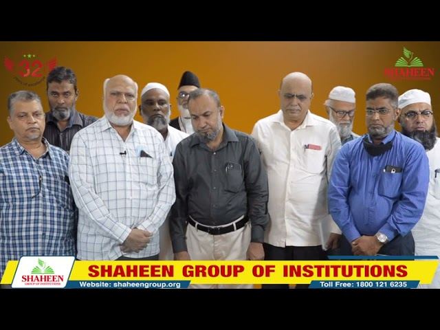 A team from Minhaj Masjid, Bangalore visited SHAHEEN AICU   Bidar   Shaheen College