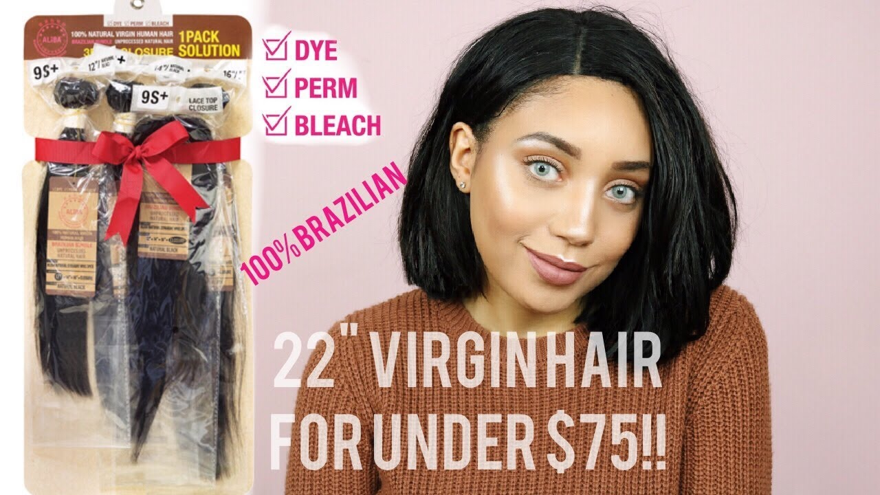 Straight perm solution - Under 75 For 22 Brazilian Hair Closure Janet Collection Aliba Straight Review
