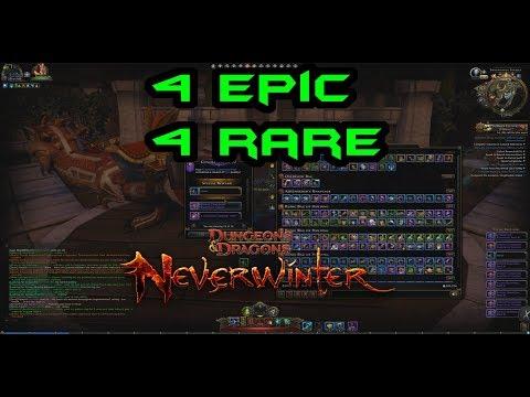 Neverwinter   LOCKBOX OPENING : 82 keys 4 rare 4 epic rewards   MOD12   PC PS4 XBOX
