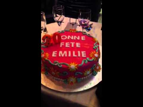 bonne fete emilie gateau youtube. Black Bedroom Furniture Sets. Home Design Ideas