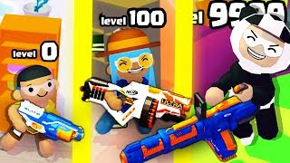 NERF Epic Pranks! l IS THIS THE STRONGEST NERF GUN EVOLUTION? (9999+ LEVEL NERF RIFLE)