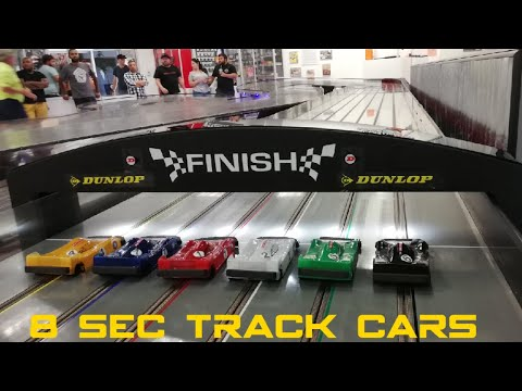 INSANELY FAST Slot Car Racing & car meet *NOT A CHEAP HOBBY* I want one.