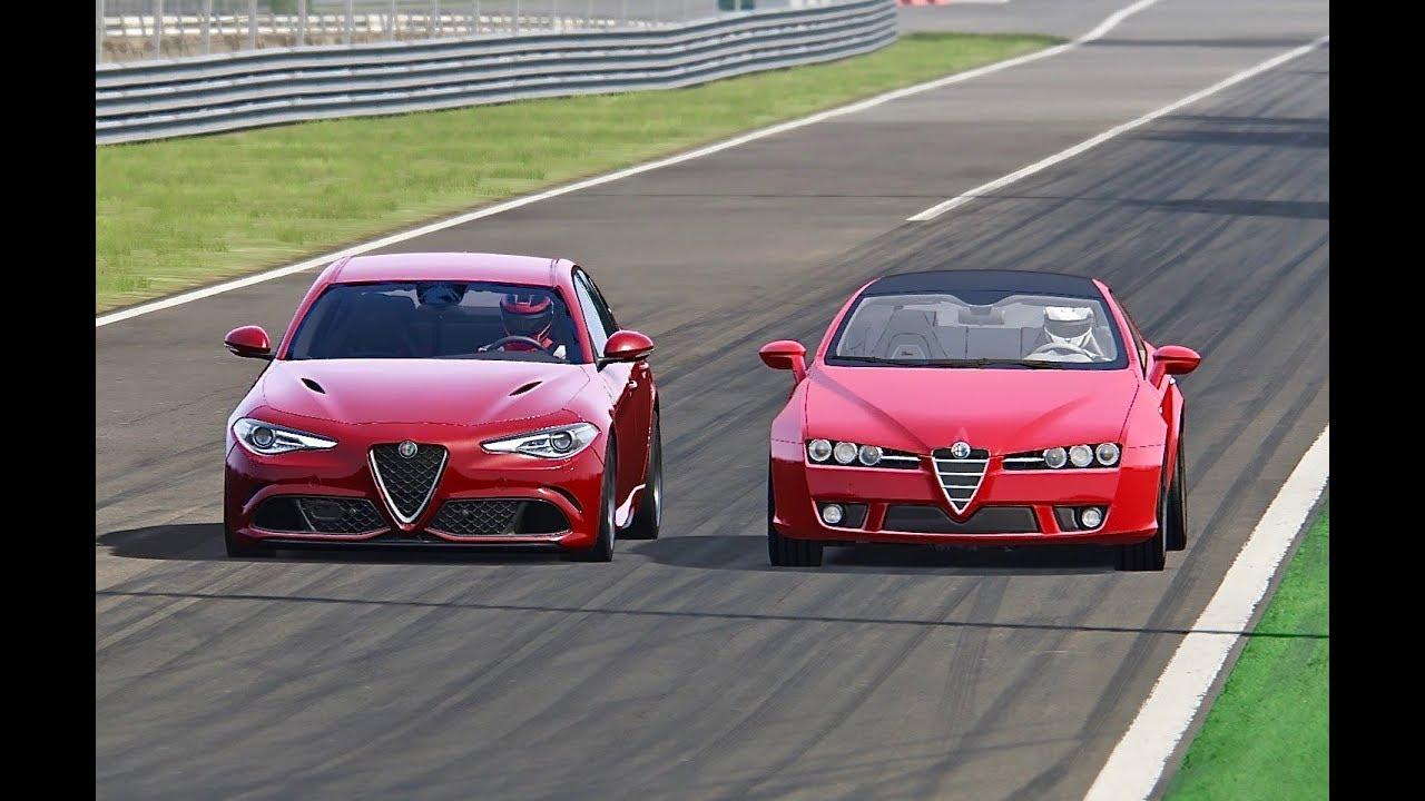 Alfa Romeo Giulia Quadrifoglio Vs Alfa Romeo Brera 3 2 V6 Youtube