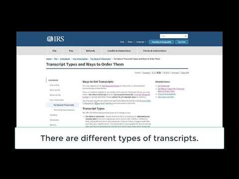 How to get a tax transcript