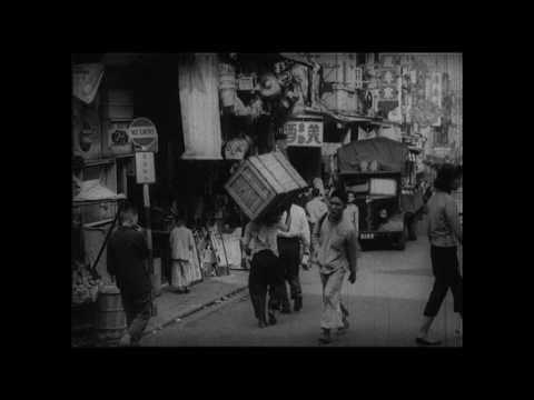 Old Hong Kong Sheung Wan, opium smoking, 1952