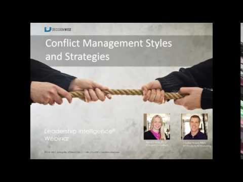 Conflict Management Styles and Strategies
