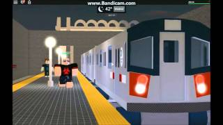 ROBLOX HD: Automatic train action + DERAILMENT