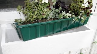 How To Build A Window Flower Box : Gardenfork.tv