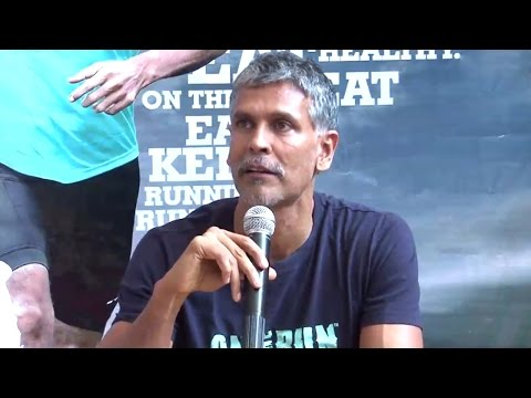 Fitness Icon Milind Soman At The Press Conference Of OnTheRun Food Brand
