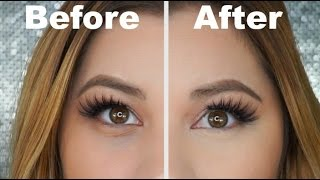 How To Cover Dark Circles Under Eye Bags With Makeup | No Creasing! | Steffyy Makeup