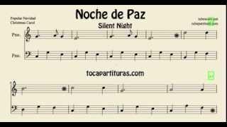 Noche de Paz Partitura Fácil de Piano Video Partitura Karaoke