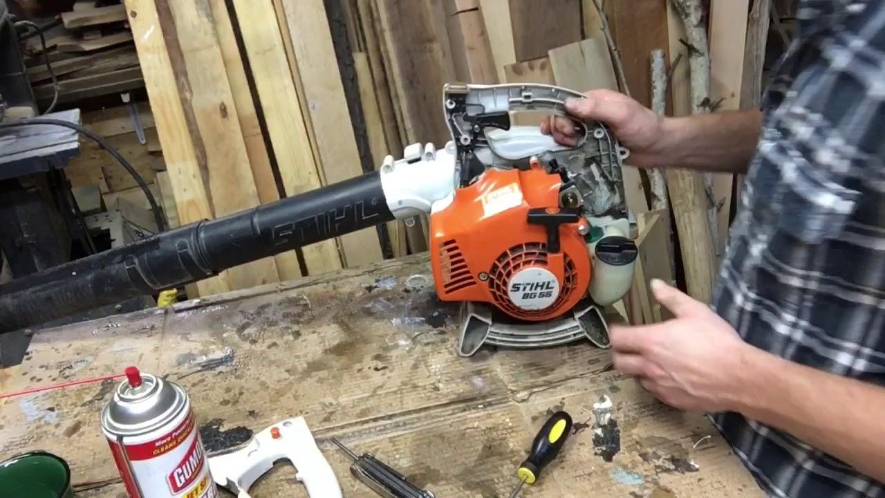 Carb Work On A Stihl Bg 55 Leaf Blower