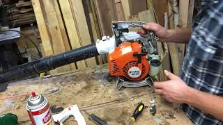 Carb work on a Stihl bg 55 leaf blower.