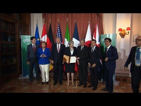 G7 leaders sign terrorism declaration