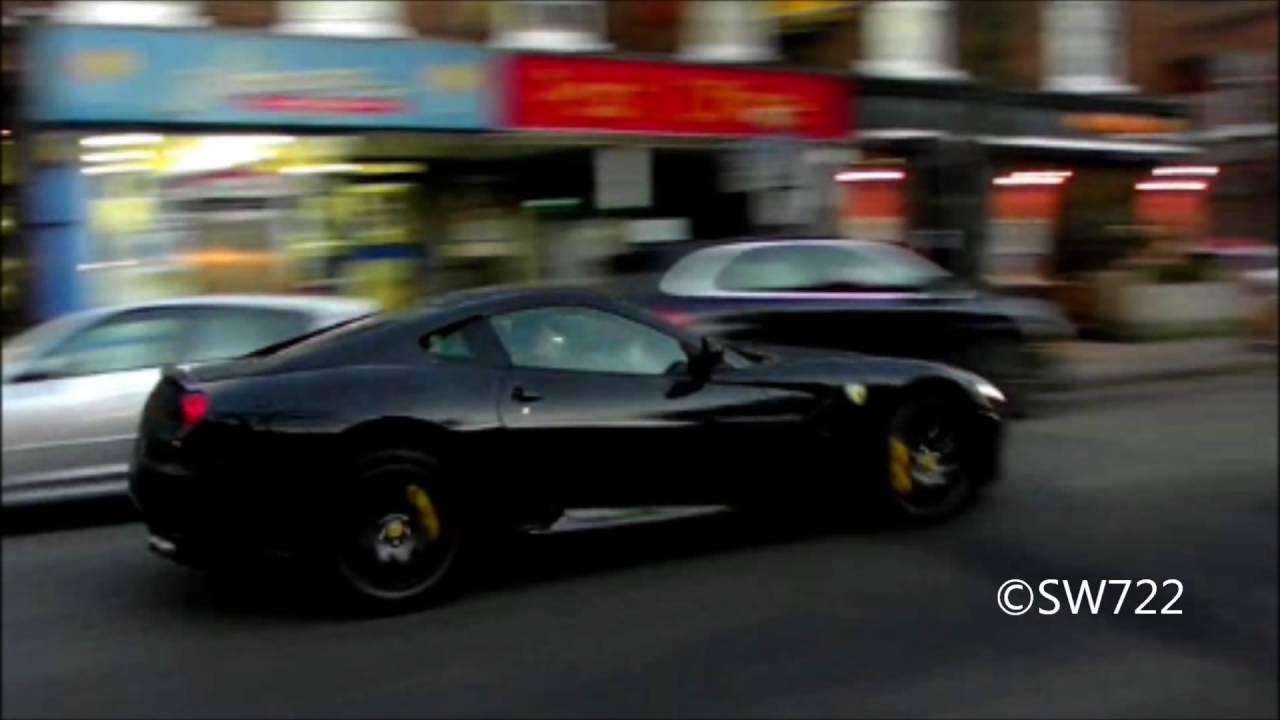 black on black ferrari 599 gtb f1 fly by little warblesport cars videobest sport cars video - Matte Black Ferrari 599