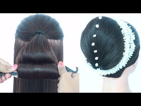 new juda with magic hair lock || big bun hairstyle || different hairstyle || easy hairstyles thumbnail