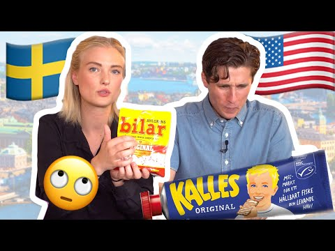 American tries strange Swedish Midsummer Food! Flying Jacob?