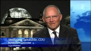 Karen Miosga bringt Wolfgang Schäuble zum Lachen
