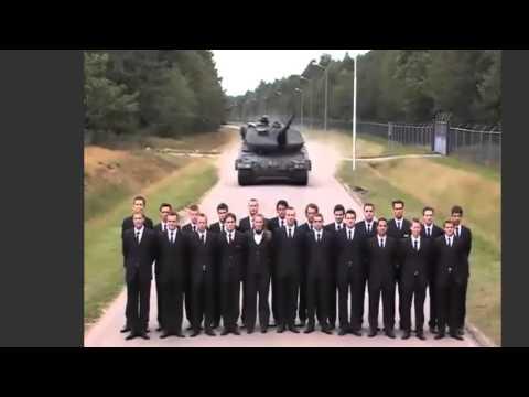 Verrückte Vollbremsung mit einem Leopard Panzer